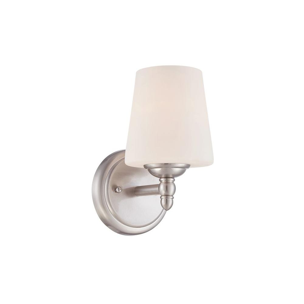 Designers Fountain Darcy Light Brushed Nickel Wall SconceB - Polished nickel bathroom wall sconces