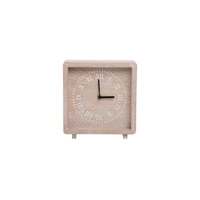 Natural Wood Battery Operated Table Clock