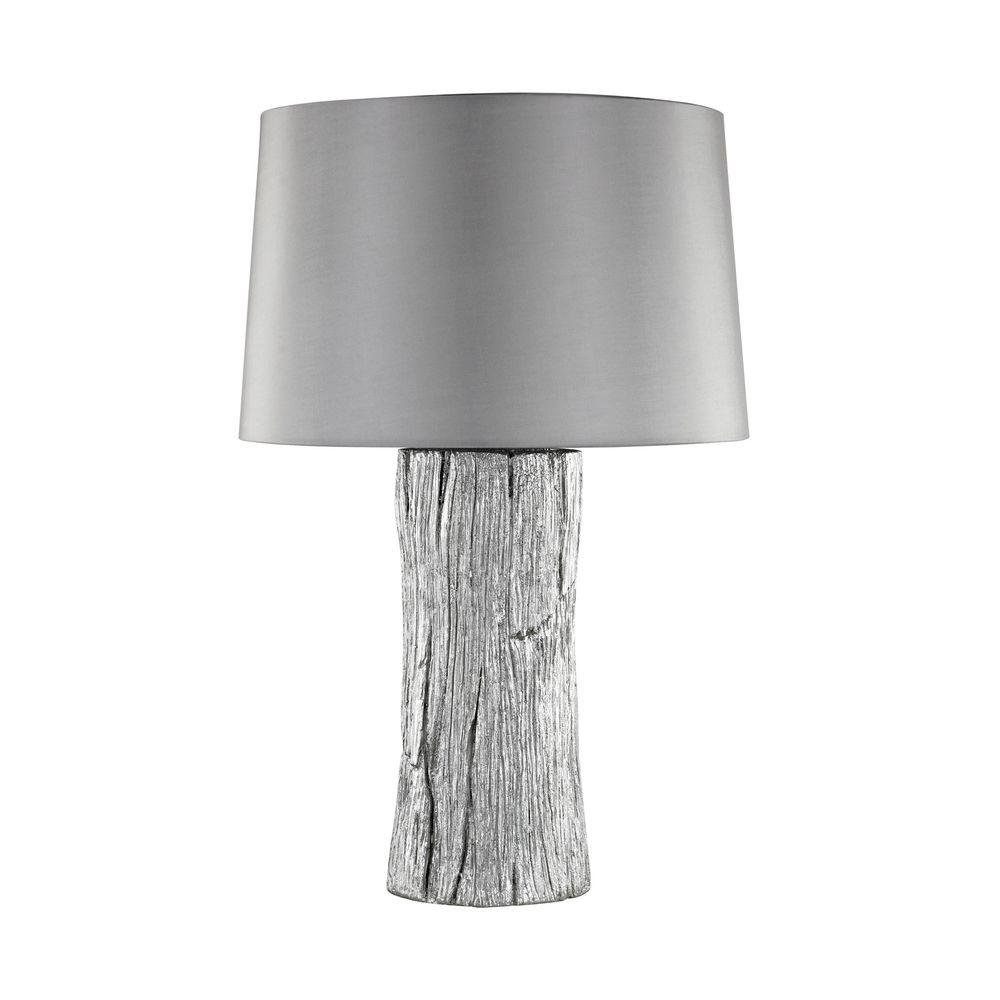 An Lighting 26 In Kanamota Silver Outdoor Table Lamp