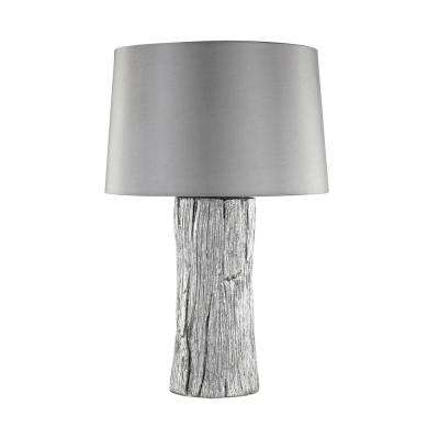 26 in. Kanamota Silver Outdoor Table Lamp