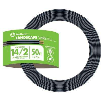 50 ft. 14-2 Black Stranded Landscape Lighting Wire