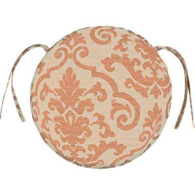 sunbrella rialto papaya round outdoor seat cushion
