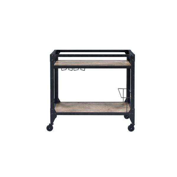 Acme Furniture Jorgensen Black Serving Cart 98355