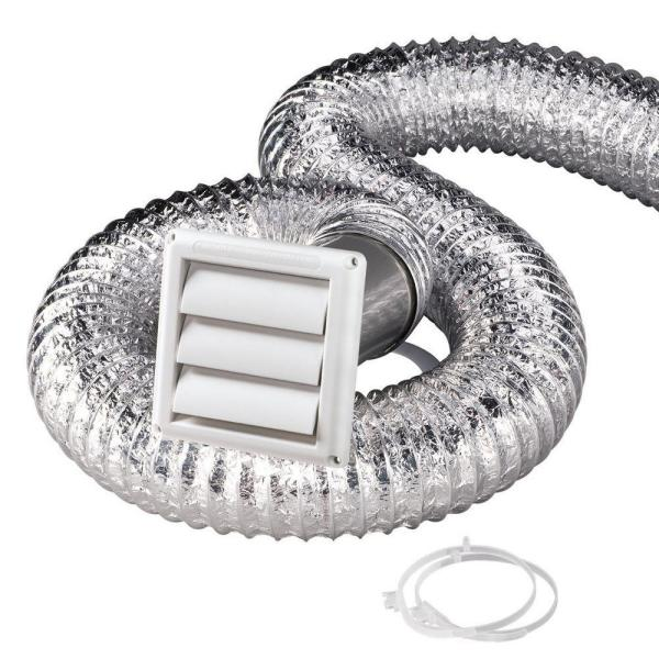 Everbilt 4 In X 8 Ft Louvered Dryer Vent Kit Sk8wfw 8hd The Home Depot