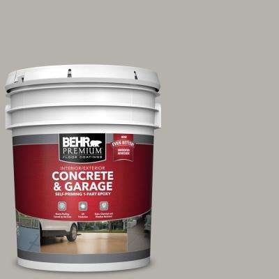 5 gal. #PFC-67 Mossy Gray Self-Priming 1-Part Epoxy Satin Interior/Exterior Concrete and Garage Floor Paint