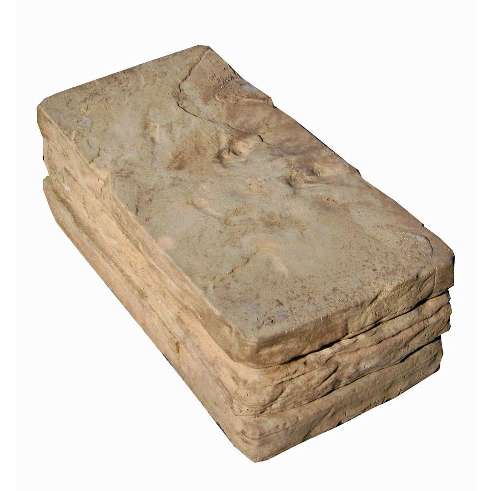 null 6 in. x 12 in. Brown Blend Sierra Stack Stone Concrete Wall Block