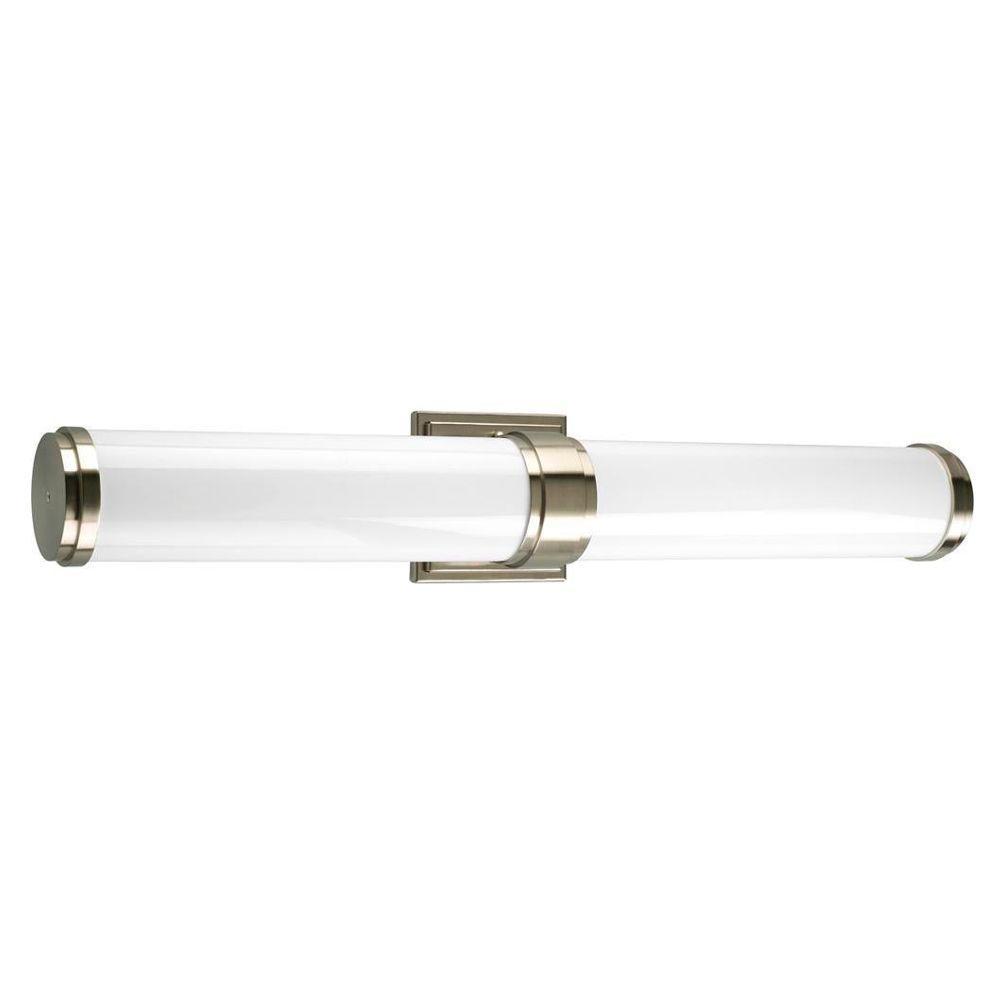 Progress Lighting Maier Collection 2-Light Brushed Nickel Fluorescent Vanity Fixture