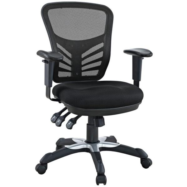 MODWAY Articulate Mesh Office Chair in Black EEI-757-BLK