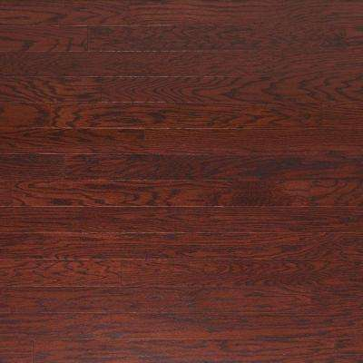 Take Home Sample - Scraped Oak Cabernet Engineered Click Hardwood Flooring - 5 in. x 7 in.