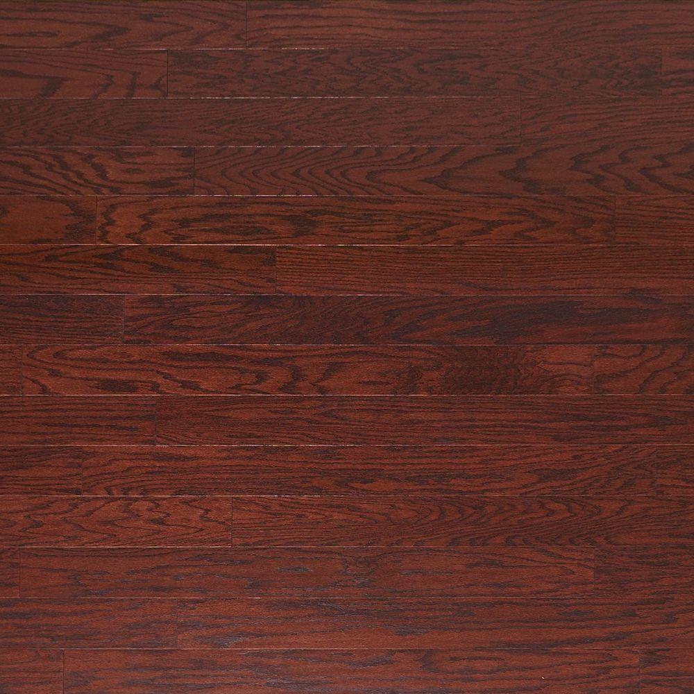 Take Home Sample - Scraped Oak Cabernet Engineered Click Hardwood Flooring - 5 in. x 7 in.