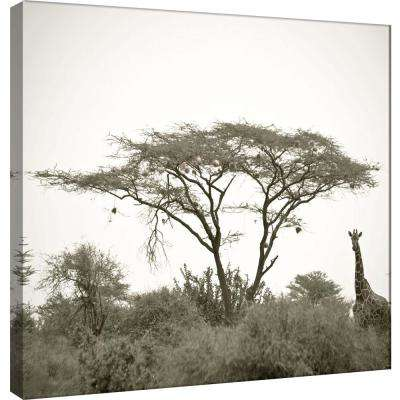15.in x 15.in ''Standing Giraffe'' Printed Canvas Wall Art
