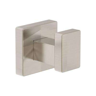 Duro Single Robe Hook in Satin Nickel