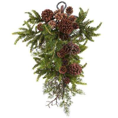 26in. Pine and Pine Cone Teardrop