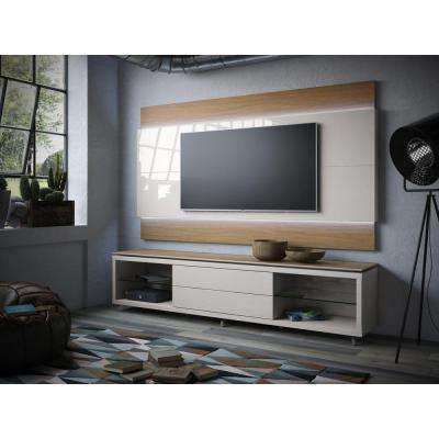 Lincoln Maple Cream and Off White Entertainment Center