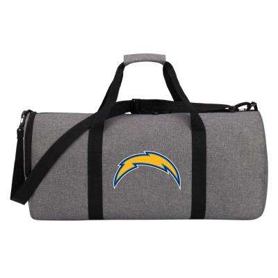 Chargers Wingman 10 in. Heathered Gray Duffle Bag
