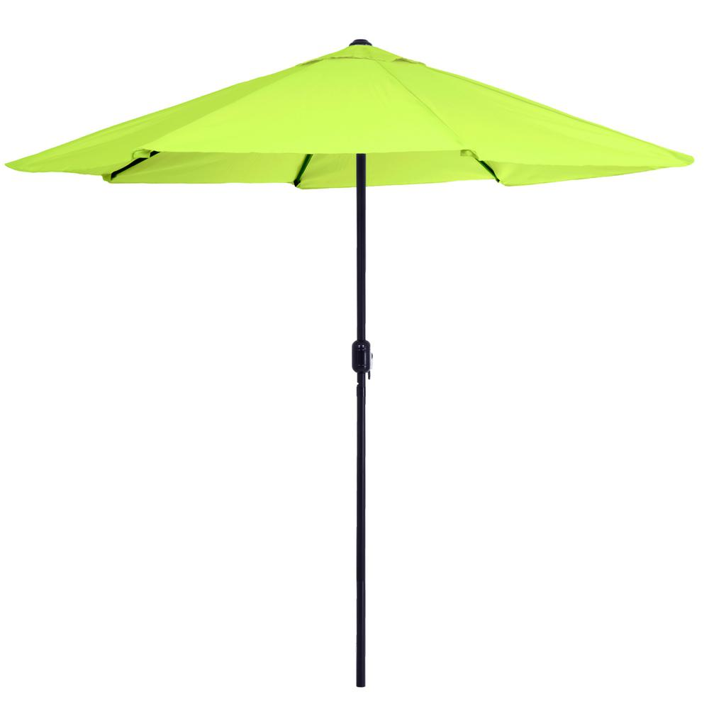 Merveilleux Aluminum Patio Umbrella With Auto Crank In Lime Green