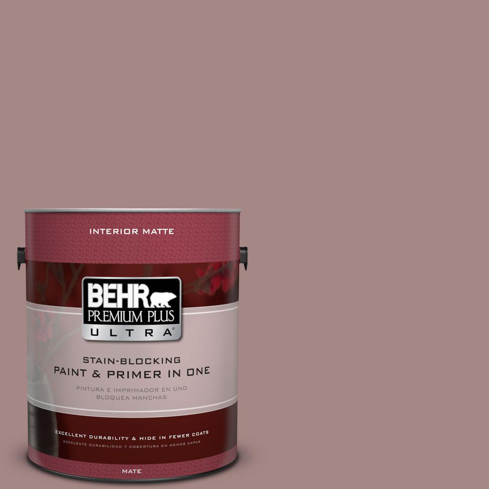 BEHR Premium Plus Ultra 1 gal. #120F-4 Blackberry Mocha Flat/Matte Interior Paint
