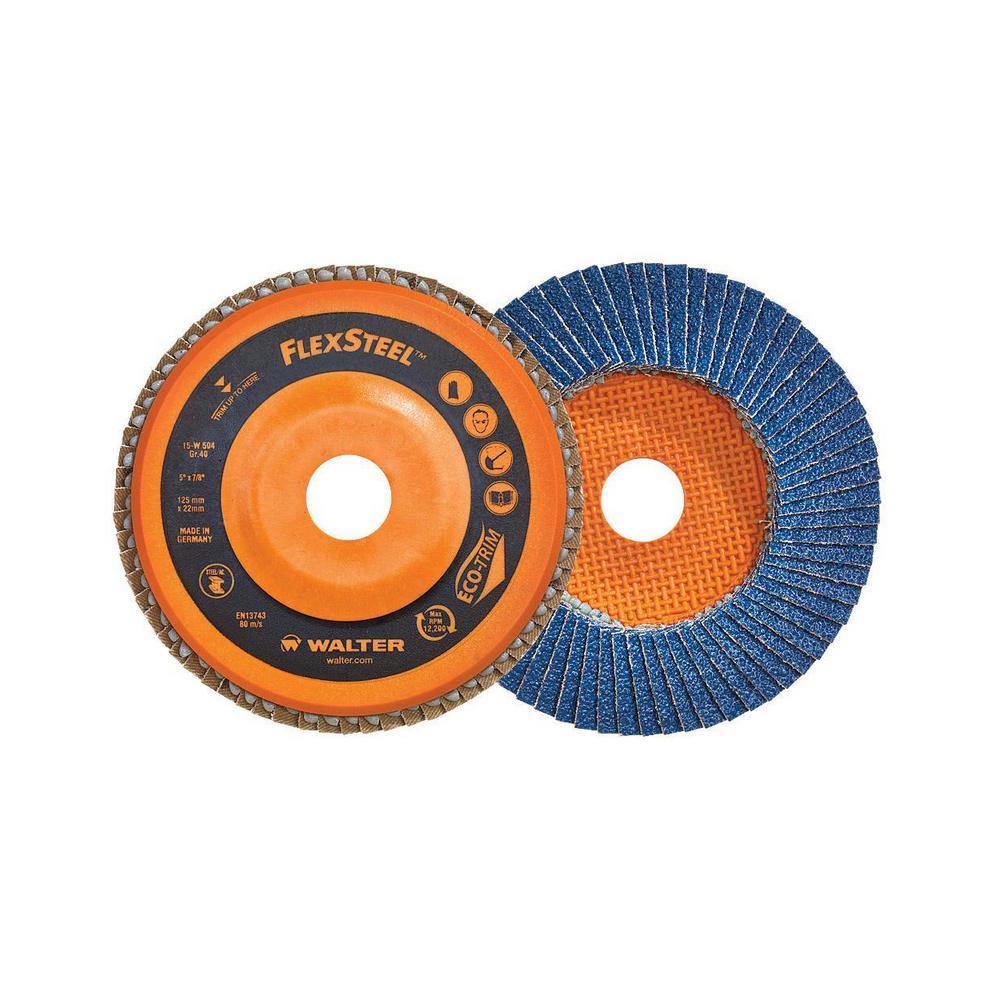 FLEXSTEEL 4.5 in. x 7/8 in. Arbor x GR40 High Performance Flap Disc (10-Pack)