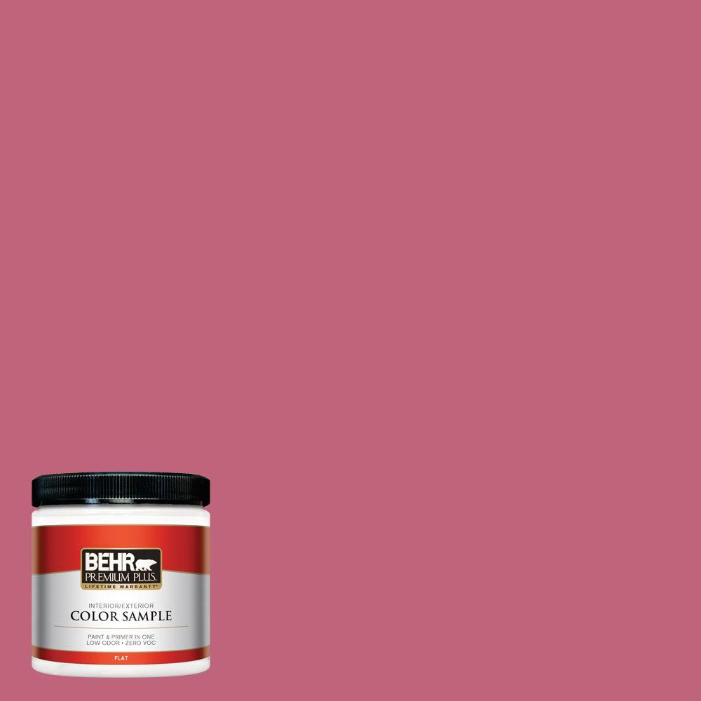 8 oz. #120D-4 Mulberry Flat Interior/Exterior Paint and Primer in One