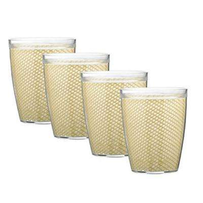 Fishnet 14 oz. Ivory Insulated Drinkware (Set of 4)