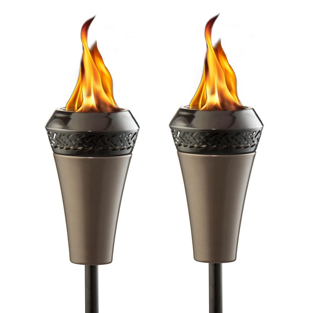 outdoor torch lighting. TIKI Island King Torch Bundle (2-Pack) Outdoor Lighting S