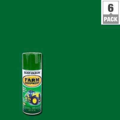 12 oz. Farm Equipment John Deere Green Gloss Enamel Spray Paint (6-Pack)
