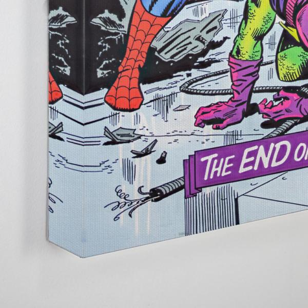 Crystal Art Licensed Marvel Amazing Spider-Man Vintage Comic Book Collage Wrapped Canvas Wall Art 36 H x 24 L Multicolored