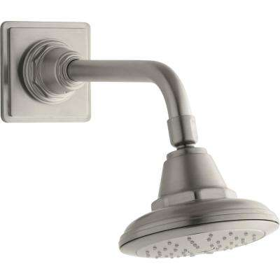 Pinstripe 1-Spray 5.625 in. Showerhead with Katalyst Air Induction Technology in Vibrant Brushed Nickel