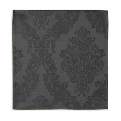 90 in. Round Gray Elrene Barcelona Damask Fabric Tablecloth