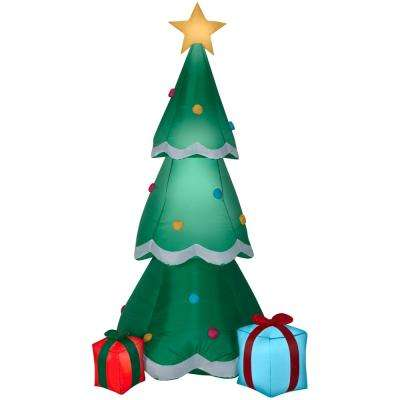 6.50 ft. Pre-Lit  Life Size Airblown Inflatable Christmas Tree with Presents