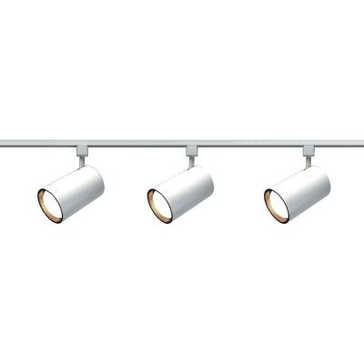 3-Light R30 White Straight Cylinder Track Lighting Kit