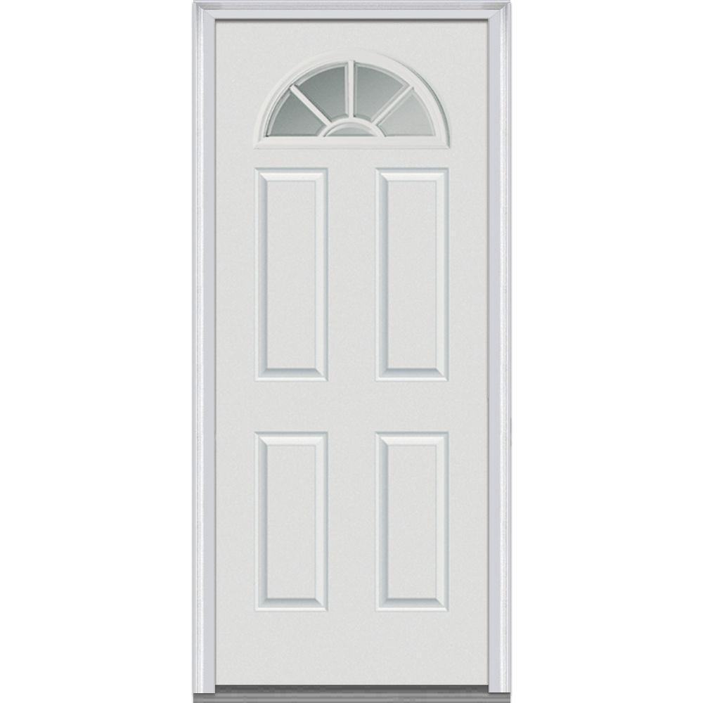 4 Panel Right Handinswing Primed Doors With Glass