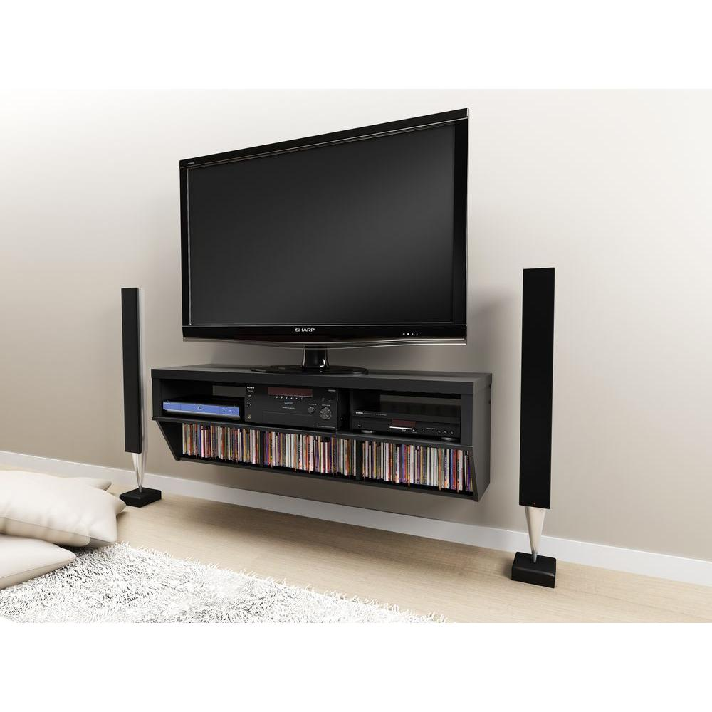 Prepac Series 9 Black Entertainment Center