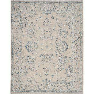 Patina Gray/Blue 9 ft. x 12 ft. Area Rug