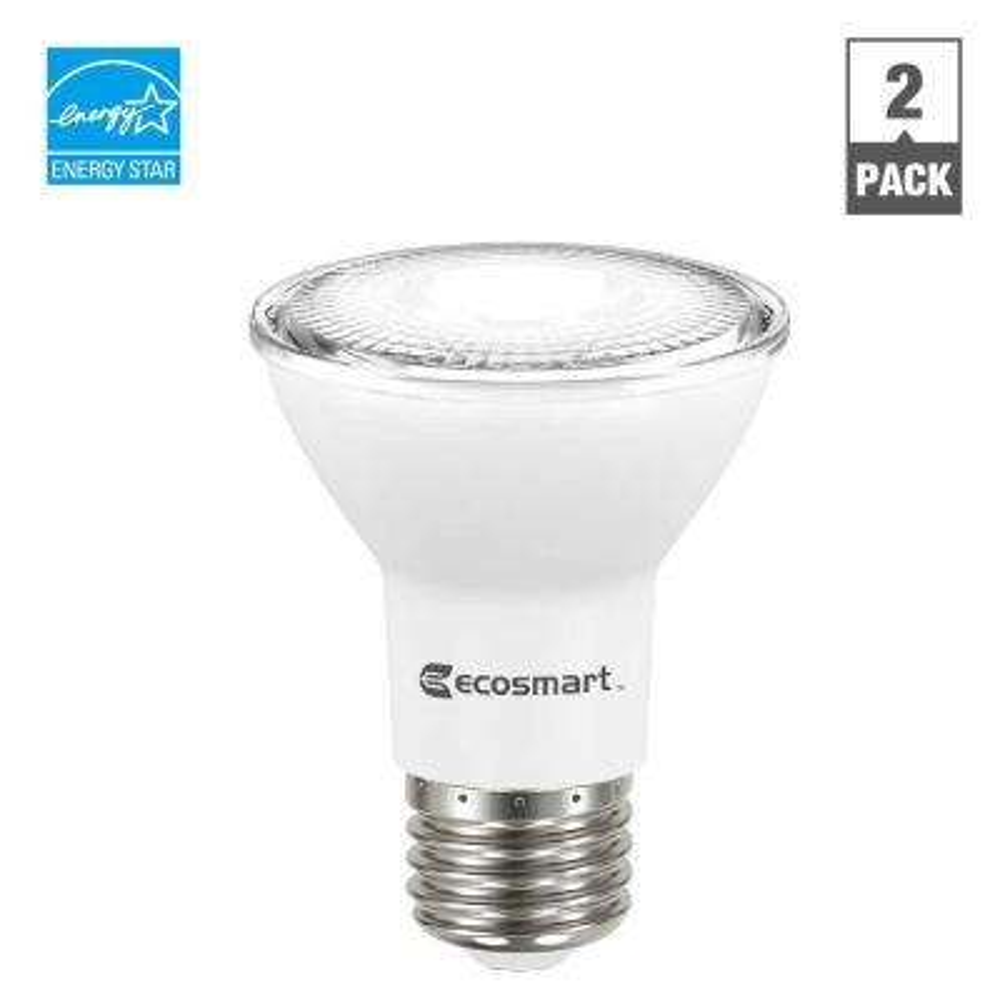 50W Equivalent Daylight PAR20 Dimmable LED Flood Light Bulb (2-Pack)