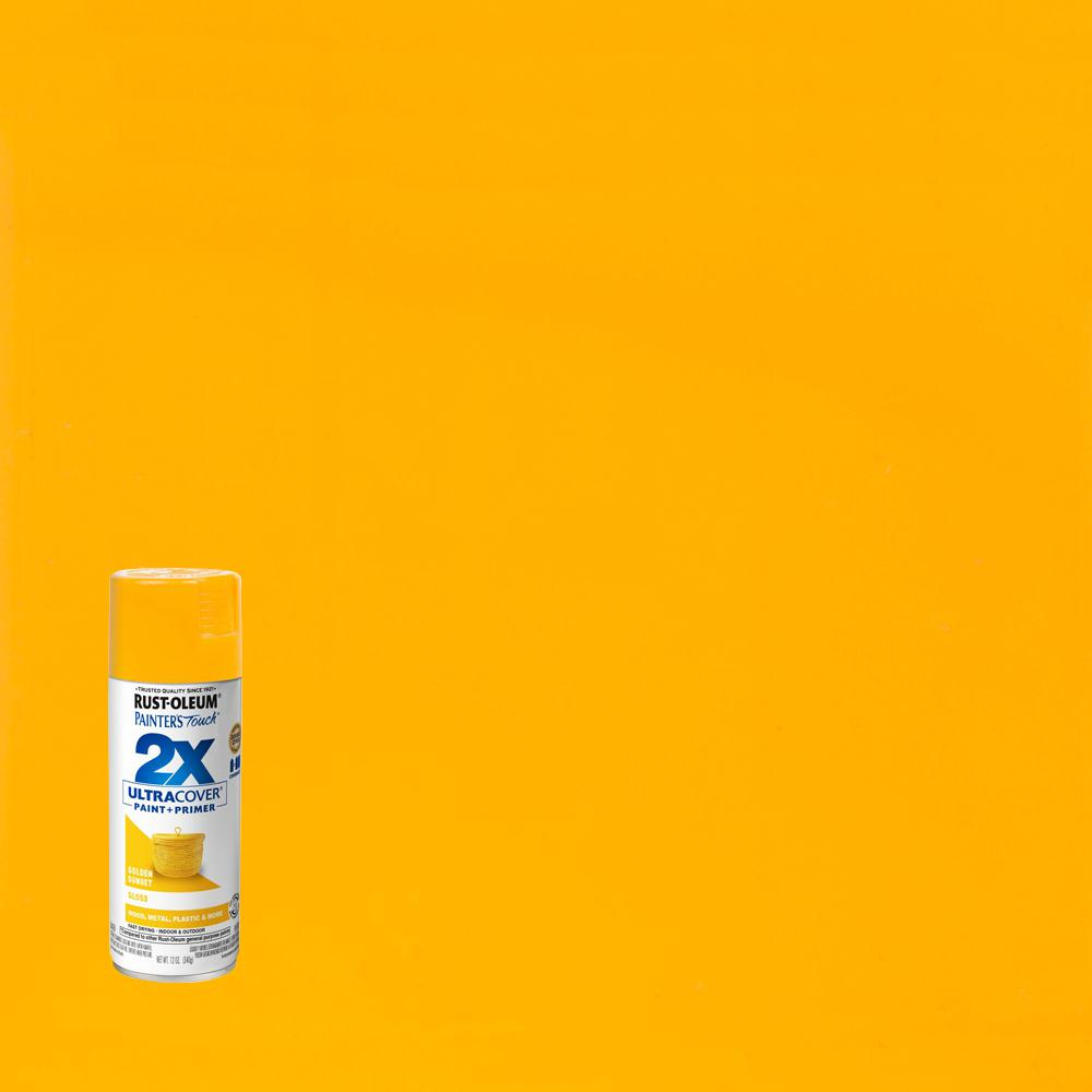 Rust-Oleum Painter's Touch 2X 12 oz. Gloss Golden Sunset General Purpose Spray Paint (6-Pack)