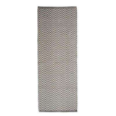 Portland Chevron Grey 2 ft. x 5 ft. Indoor Runner Rug