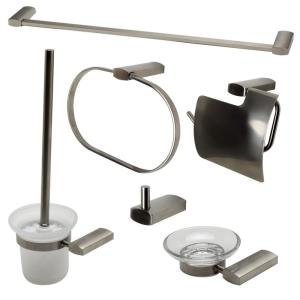 ALFI BRAND 6-Piece Bath Hardware Set in Brushed Nickel by ALFI BRAND