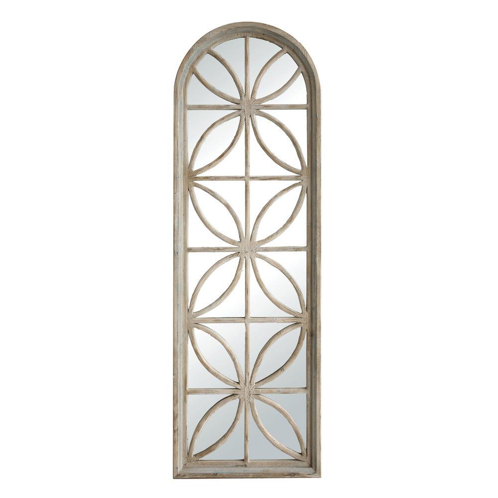 80 in. H x 25 in. W Fir Wood Rectangle Mirror