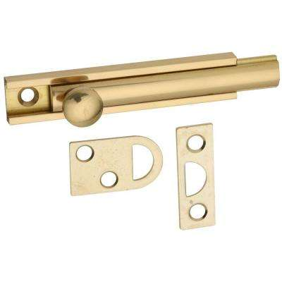 3 in. Surface Bolt in Solid Brass