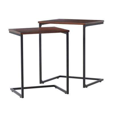 Black 2-Piece Nesting End Table