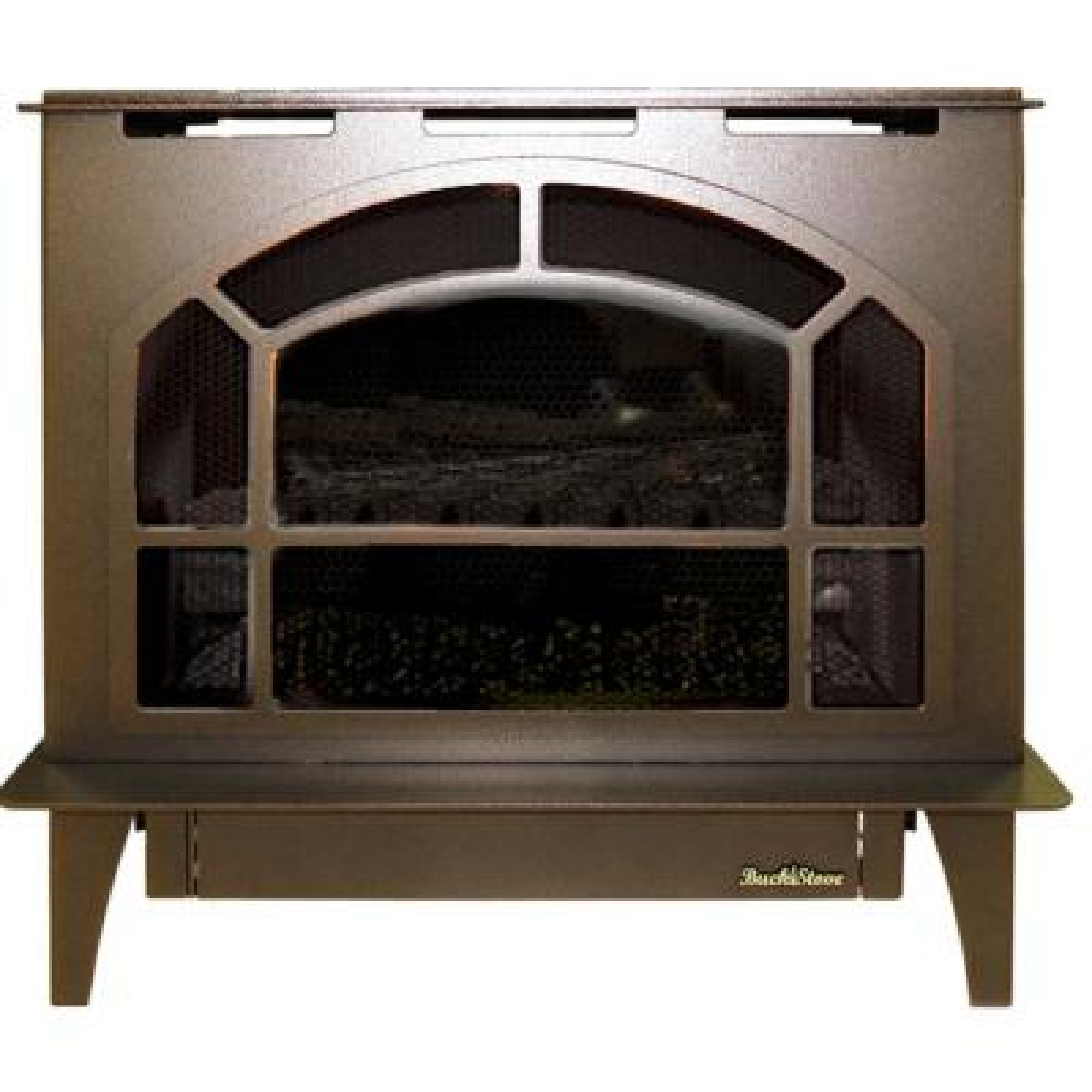 Hepplewhite 32,000 BTU LP Vent Free Gas Stove in Vintage Copper Steel