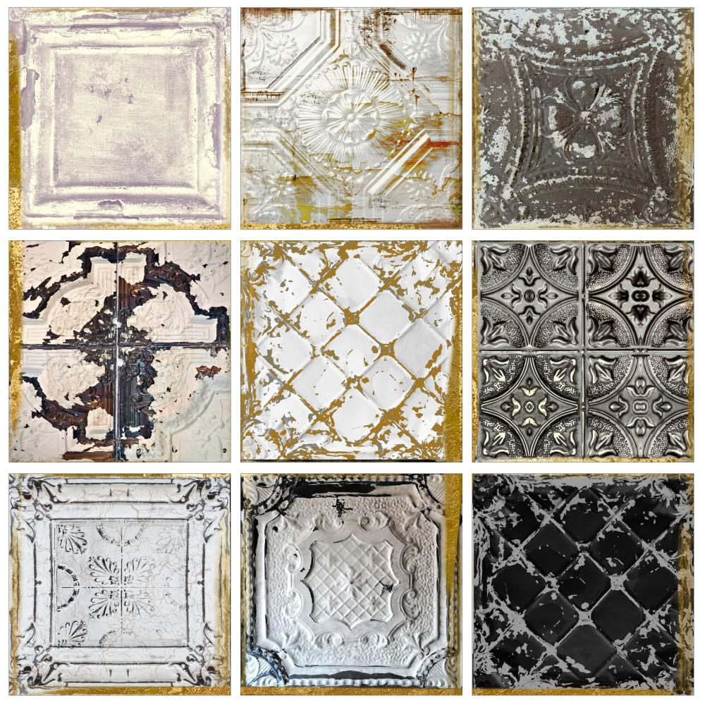 Vintage Tin Tiles By Color
