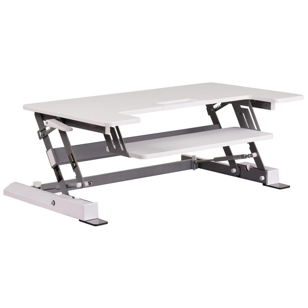 Carnegy Avenue White Computer Desk CGA-JE-209482-WH-HD