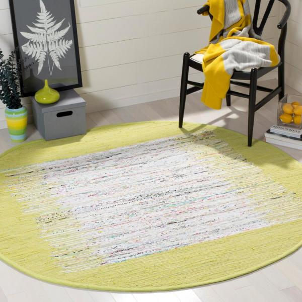 Reviews For Safavieh Montauk Ivory Citron 6 Ft X 6 Ft Round Area Rug Mtk711j 6r The Home Depot