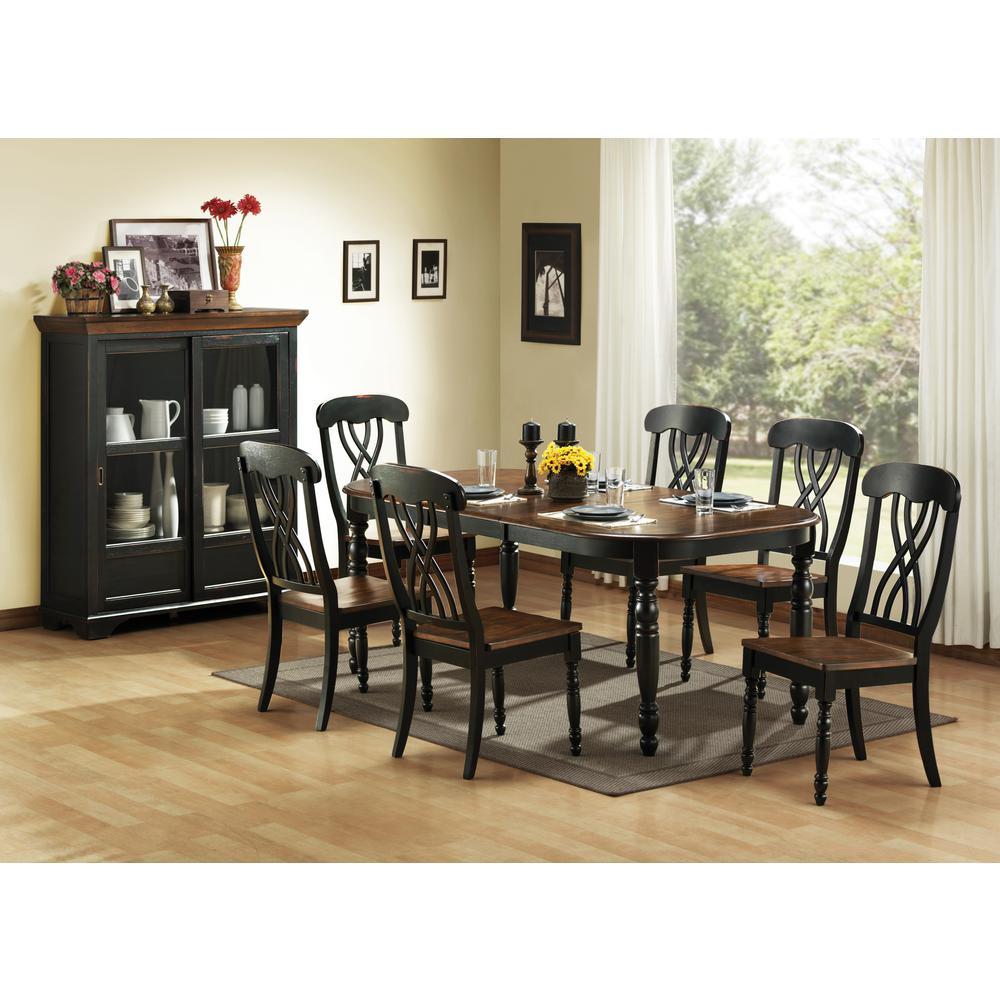 Home Decorators Collection 7-Piece Black Dining Set