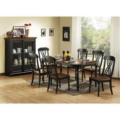 7 Piece Black Dining Set