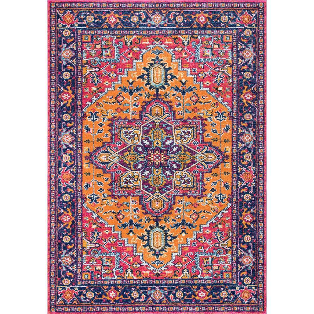 nuloom fancy persian vonda orange 6 ft 7 in x 9 ft area rug rzbd32b 6709 the home depot. Black Bedroom Furniture Sets. Home Design Ideas