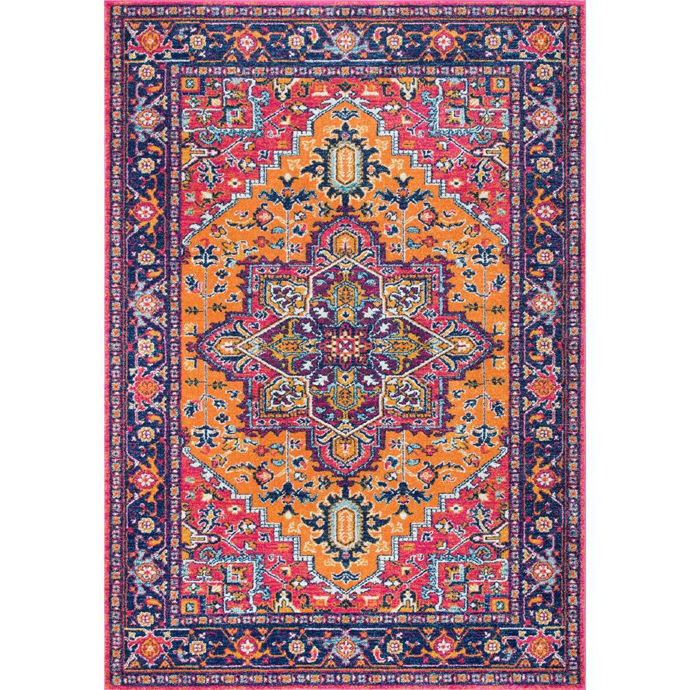nuLOOM Fancy Persian Vonda Orange 8 ft. x 10 ft. Area Rug