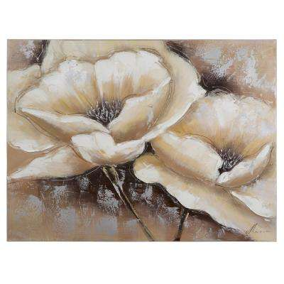 "24 in. x 31 in. ""Full Bloom I"" Hand Painted Canvas Wall Art"